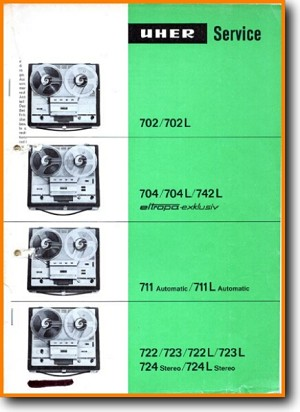 Uher 742-L Tape Player Main Technical Manual - PDF & Tech Help* | English