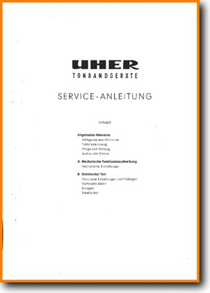 Uher 95-L Tape Player Main Technical Manual - PDF & Tech Help* | German