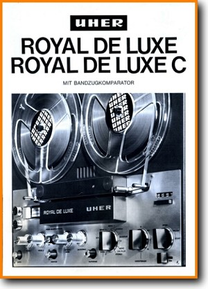 Uher Royal Delux C Tape Player Addendum - A Brochure - PDF & Tech Help* | English
