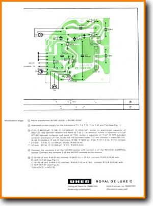 Uher Royal Delux C Tape Player Addendum - C Schematics - PDF & Tech Help* | English