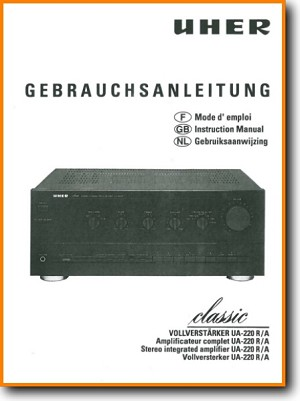 Uher UA-220-R Amp Receiver Main User Book - PDF & Tech Help* | German