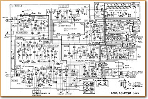 Aiwa ADF-220 Tape Player Main Schematics - PDF & Tech Help* | English