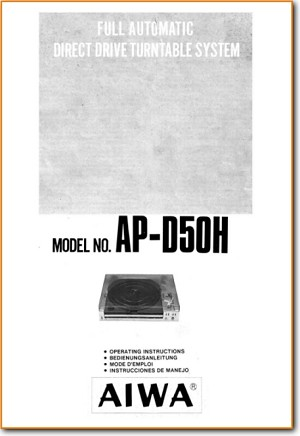 Aiwa APD-50-H Turntable Record Player Main User Book - PDF & Tech Help* | English