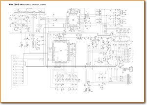 Aiwa CDCZ-106 Automotive Audio Main Schematics - PDF & Tech Help* | English