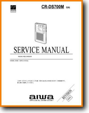 Aiwa CRDS-700-M Portable Stereo Main Technical Manual - PDF & Tech Help* | English