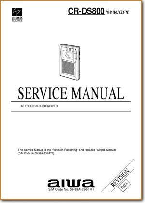 Aiwa CRDS-800 Portable Stereo Main Technical Manual - PDF & Tech Help* | English