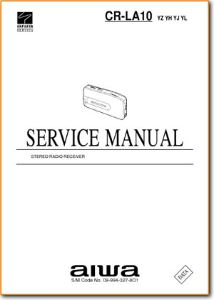 Aiwa CRLA-10 Portable Stereo Main Technical Manual - PDF & Tech Help* | English