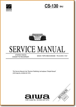 Aiwa CS-130 Mini Shelf System Addendum - A Technical Manual - PDF & Tech Help* | English
