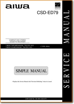 Aiwa CSDED-79 Mini Shelf System Addendum - A Technical Manual - PDF & Tech Help* | English