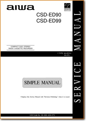 Aiwa CSDED-99 Portable Stereo Main Schematics - PDF & Tech Help* | English