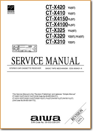 Aiwa CTX-320 Automotive Audio Main Technical Manual - PDF & Tech Help* | English