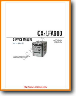 Aiwa CXLFA-600 Mini Shelf System Main Technical Manual - PDF & Tech Help* | English