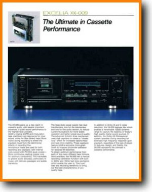 Aiwa EXCELIA-XK-009 Tape Player Main Brochure - PDF & Tech Help* | English