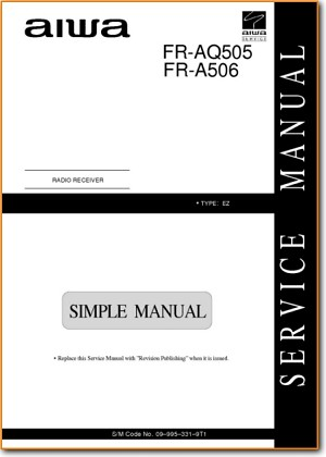 Aiwa FRA-506 Mini Shelf System Main Technical Manual - PDF & Tech Help* | English