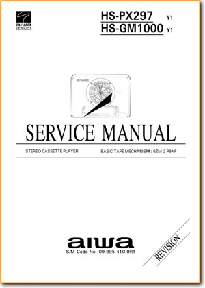 Aiwa HSGM-1000 Portable Stereo Main Technical Manual - PDF & Tech Help* | English