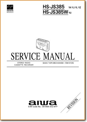 Aiwa HSJS-385-W Portable Stereo Main Technical Manual - PDF & Tech Help* | English