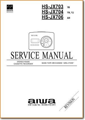 Aiwa HSJX-703 Portable Stereo Addendum - A Technical Manual - PDF & Tech Help* | English
