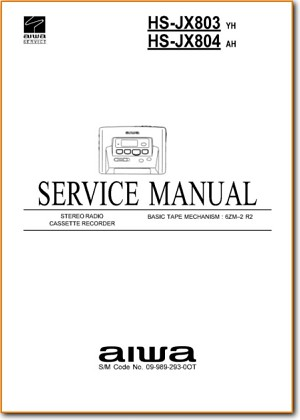 Aiwa HSJX-804 Portable Stereo Main Technical Manual - PDF & Tech Help* | English