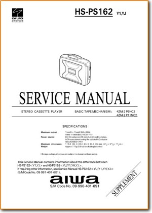 Aiwa HSPS-162 Mini Shelf System Main Schematics - PDF & Tech Help* | English