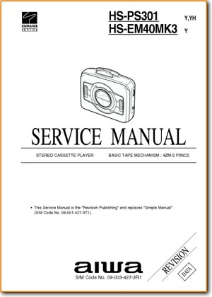 Aiwa HSPS-301 Portable Stereo Main Technical Manual - PDF & Tech Help* | English