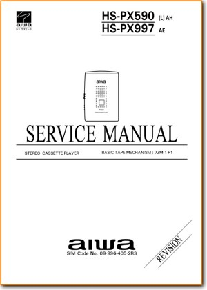 Aiwa HSPX-997 Portable Stereo Addendum - A Technical Manual - PDF & Tech Help* | English