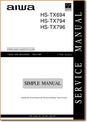 Aiwa HSTX-794 Portable Stereo Addendum - A Technical Manual - PDF & Tech Help* | English