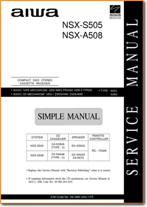 Aiwa NSXA-508 Mini Shelf System Main Schematics - PDF & Tech Help* | English