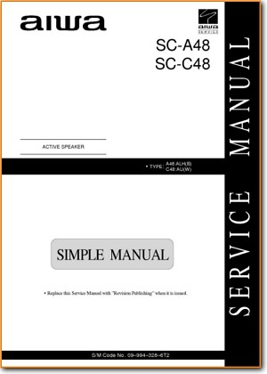 Aiwa SCA-48 Loudspeaker Main Technical Manual - PDF & Tech Help* | English