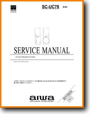 Aiwa SCUC-78 Loudspeaker Main Schematics - PDF & Tech Help* | English