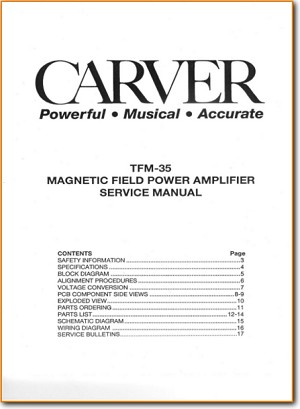 carver tfm-35 solid state amp receiver - on demand pdf download | english