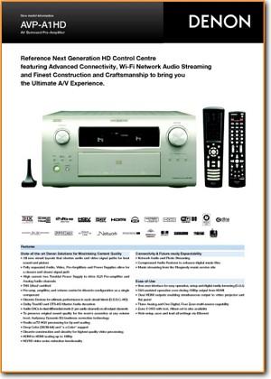 Denon AVPA 1 HD Amp Receiver Addendum