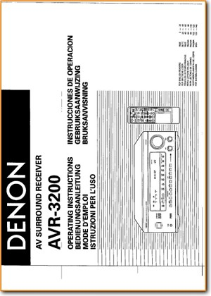 denon avr 3200 solid state amp receiver on demand pdf download