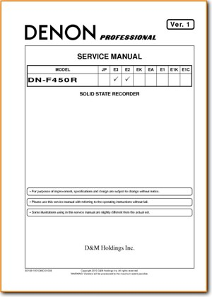 Denon DNF-450-R Digital Player Recorder Main Technical Manual - PDF & Tech  Help* | English