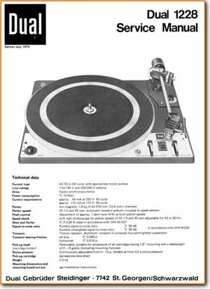 Najnowsze Dual 1228 Turntable Record Player - On Demand PDF Download | English GC53