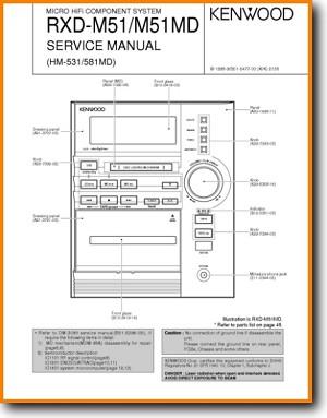 Kenwood HM-531 Mini Shelf System Main Technical Manual - PDF & Tech Help*    English