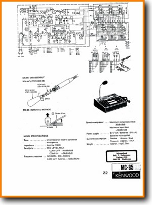 kenwood mc-85 cable - accessory - misc - on demand pdf download | english