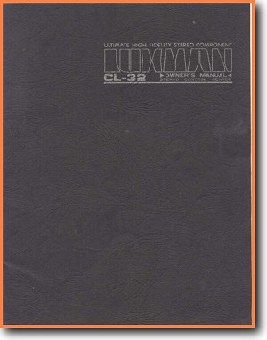 Luxman CL-32 Tube Amplifier Addendum - B User Book - PDF & Tech Help* |  English