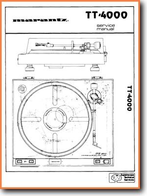 Marantz TT-4000 Turntable Record Player Main Technical Manual - PDF & Tech  Help* | English