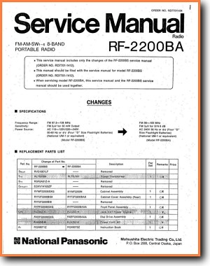 Rf Panasonic Schematic Diagram on panasonic portable multiband receiver, panasonic rf 5000, panasonic rf-4800,