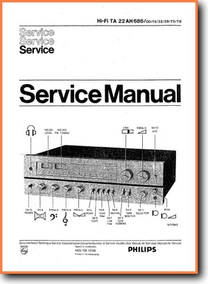 Philips 22-AH-686 Amp Receiver Main Technical Manual - PDF & Tech Help* | English