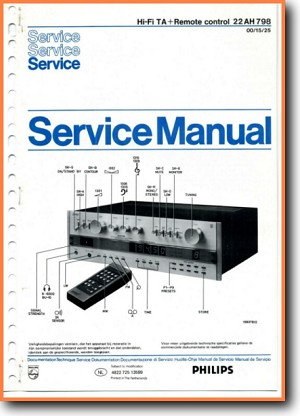 Philips 22-AH-798 Amp Receiver Main Technical Manual - PDF & Tech Help* | English