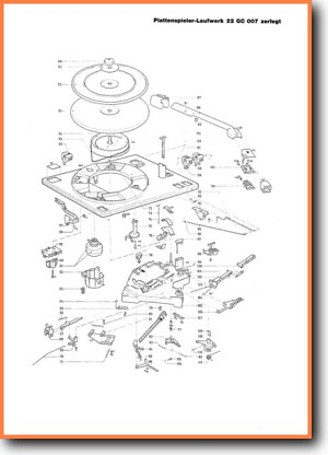 Philips 22-GC-007 Turntable Record Player Addendum - A Technical Manual - PDF & Tech Help* | Dutch
