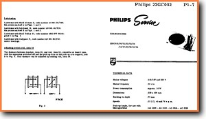 Philips 22-GC-032 Turntable Record Player Addendum - A Technical Manual - PDF & Tech Help* | English