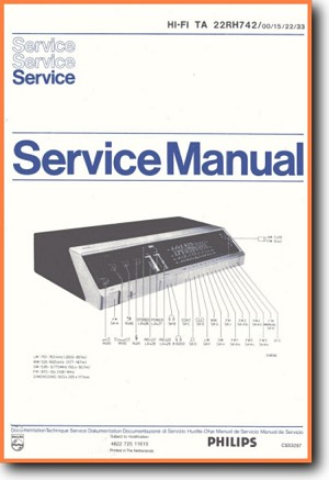 Philips 22-RH-742 Amp Receiver Main Technical Manual - PDF & Tech Help* | English