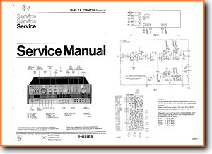 Philips AH-799 Amp Receiver Main Technical Manual - PDF & Tech Help* | English
