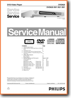 Dvd player philips dvd 950 955 956.