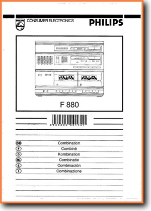 Philips F-880 Amp Receiver Main User Book - PDF & Tech Help* | English