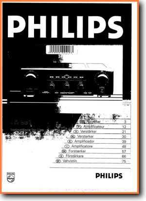 Philips FA-951 Amp Receiver Main User Book - PDF & Tech Help* | English
