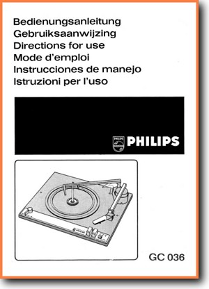 Philips Gc 036 Turntable Record Player On Demand Pdf