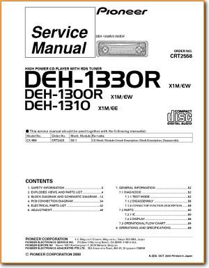 Pioneer deh 1300 r automotive audio on demand pdf download pioneer deh 1300 r automotive audio main technical manual pdf tech help sciox Gallery